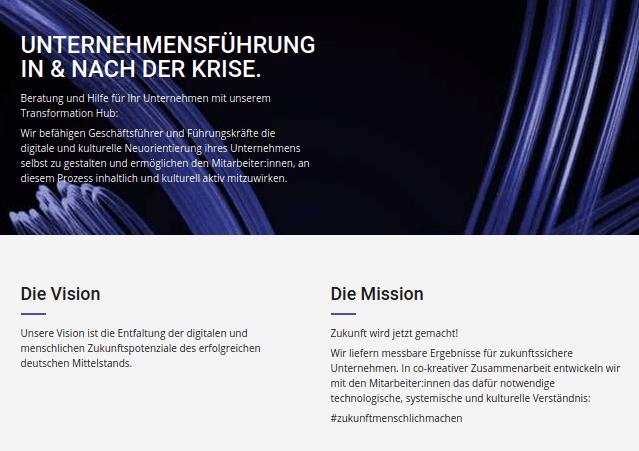 transformation hub mission vision